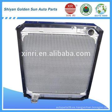 Tubo de aluminio auto radiador H1130020004A0 con el tanque de plástico para Foton Auman
