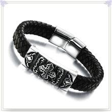Fashion Jewelry Leather Jewelry Leather Bracelet (LB136)