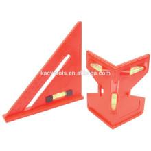Nivel de poste de 2 piezas y nivel de espíritu de triángulo Set