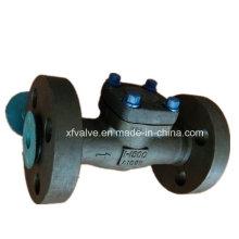 API602 1500lb 2500lb a forgé le clapet anti-retour de piston d'extrémité de bride en acier