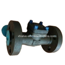 Válvula de verificação forjada do pistão da extremidade da flange do aço de API602 1500lb 2500lb