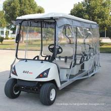 В аэропорту 6 пассажирских Электрический Гольф-кары для продажи (ДГ-С6)