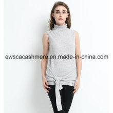 Suéter de cachemir puro sin mangas de diseño exclusivo para mujeres