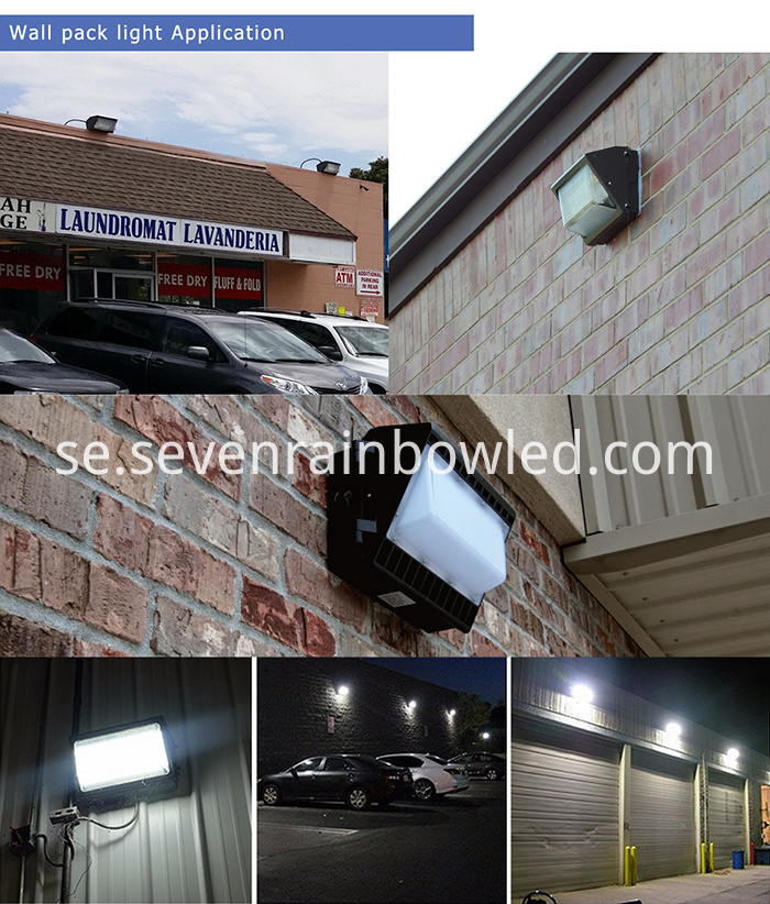 High Efficiency 120W Wall Pack Led Light