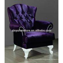Purple velvet chair lobby hotel chair XYD230