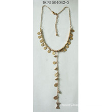 Fashion Jewelry Bling Bling Metal Gold Plated Necklace