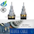 Fijación de cable aéreo con AAC Bare Conductor