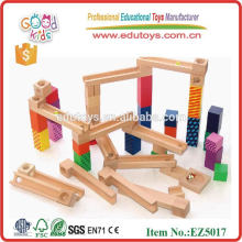 55 Pieces Wooden Marble Run Game