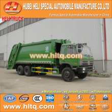 DONGFENG 6x4 16/20 m3 heavy duty trash rear loading diesel engine 210hp with pressing mechanism