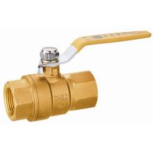 T10246 Válvula de bola de cobre amarillo para el gas medidor de gas del conducto, EN331, mano de la palanca