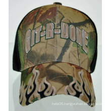 3D embroidery flames military baseball cap