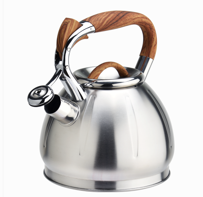 Woodlike Handle Gas Whistling Kettle Stovetop 368