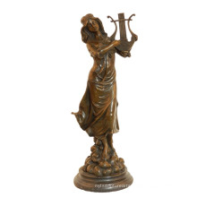 Music Deco Brass Statue Classic Female Craft Bronze Sculpture Tpy-991
