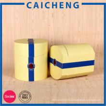 Boîte-cadeau cylindrique cylindrique adaptée aux besoins du client de papier de carton