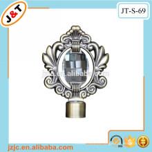 Barra de la cortina del metal de la ducha del hueco con el finial del diamante