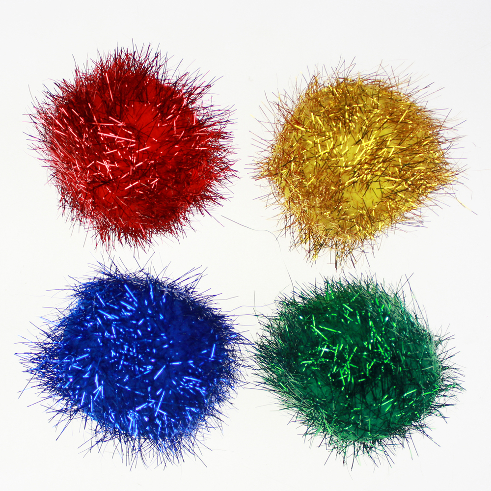 Metallic tinsel Pompom