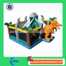 Dinosaurio inflable parque de atracciones inflable ciudad de diversión para los niños dinosaurio inflable casa rebote