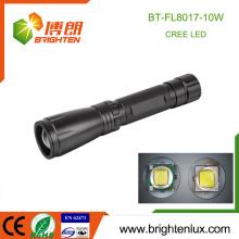 Fabrik Großhandelsaluminiummaterial Handheld 3C Zelle betriebener Lichtstrahl justierbarer Fokus 10w xml t6 cree Energienlicht führte Fackel-Licht