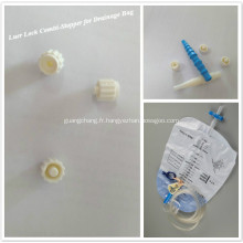 Bouchon d'héparine pour sac de drainage stérile
