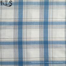 Slub popeline de algodão tecida de fios tingidos tecidos para camisas/vestido Rlsc60-4sb
