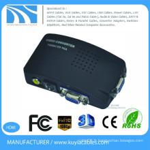 Adaptateur AV à VGA composite de haute qualité Convertisseur Composite RCA video (CVBS) et S-Video to VGA Converter