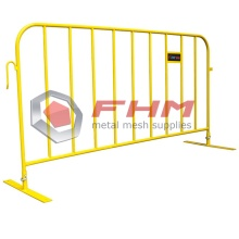 Sicherheitsgelbe Heavy-Duty-Interlocking Crowd Control Barrier