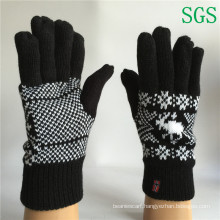 Winter Fashion Girls Boys Polyester Acrylic Knitted Striped Gloves Touch Screen Knit Gloves Winter Gloves in Free Sample