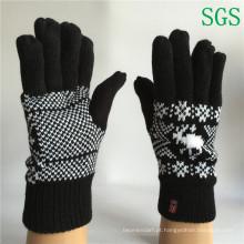 Inverno moda meninas meninos poliéster acrílico malha luvas listradas tela de toque luvas de malha luvas de inverno em amostra grátis