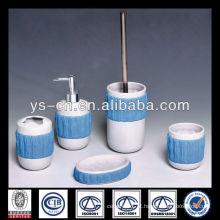 2014 novo exclusivo especial azul cerâmica banheiro líquido sabão dispenser