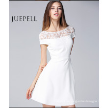 Neue Mode Frauen Sommer Spitze aushöhlen Sexy Kleid