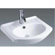 Lavabo de cerámica del gabinete de la cuenca de la vanidad del cuarto de baño (1055)