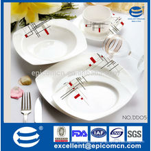 top grade lightweight classic decal New Bone China for tableware use