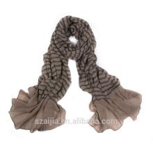 100% Viscose soft crinkle scarf