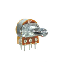 WH148-1AK-1 duplo duplo rotativo 10k potenciômetro linear de 6 pinos com interruptor