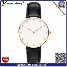 Yxl-246 Promotion Elegance Lady Dress Watch Leather Water Resistant Quartz Wrist Watch Diamond Luxury Women Watches