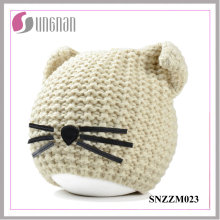 2016 Winter Warm Creative Cat Ear Hat Wool Knitted Helmet (SNZZM023)