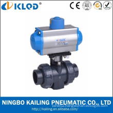 KLQD Brand Pneumatic Power PVC Material 1/2 Inch 2 Inch 4 Inch PVC Ball Valve
