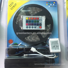 12V 5M 300leds color changing 60led/m flexible rgb led strip 5050 full set with remote /supply adapter