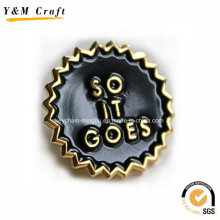 Metall Material Schwarz Soft Emaille Kühlschrankmagnete Ym1061