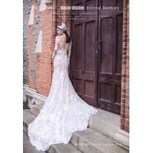 Long Sleeve Lace Mermaid Bridal Wedding Dress
