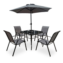 Modern Outdoor Patio Furniture 4 Seater Cushion Dining Set
