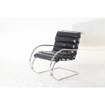 Mr chair chair in pelle nera