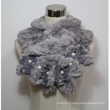 Lady Fashion Faux Fur Pearl Scarf (YKY4365A-3)