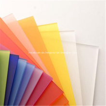 Hoja de PMMA de plástico esmerilado blanco acrílico ópalo