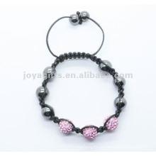Jóia do bracelete do shamballa dos grânulos da esfera de cristal de Joya 2012