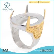 2015 Top-Verkauf Engagement fancy indinesia Ringe für Männer mit Edelstahl Großhandelspreis
