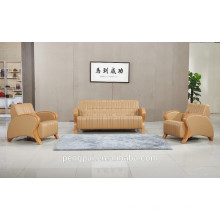 one/ three seater simple modern brown color office sofa for sale