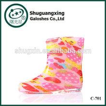 lluvia de zapatos niños lluvia Botas pvc, botas de lluvia colorida para niños