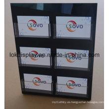 L Form Black Acrylic Display Holder, Tarjetas de Regalo Display Racks