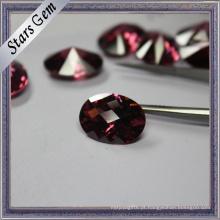 Raros especiais Rhodorite cor jóias descobertas CZ Stone